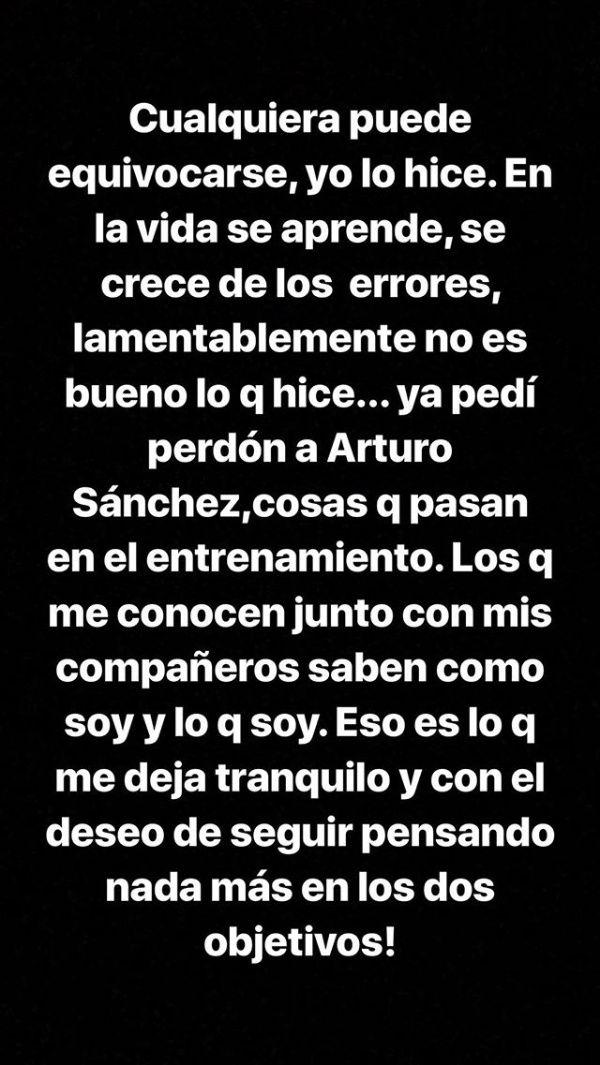 Marchesín pidió disculpas en Instagram