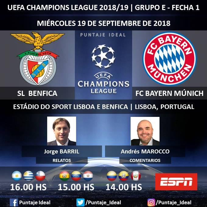 Bayern Munich vs. Benfica