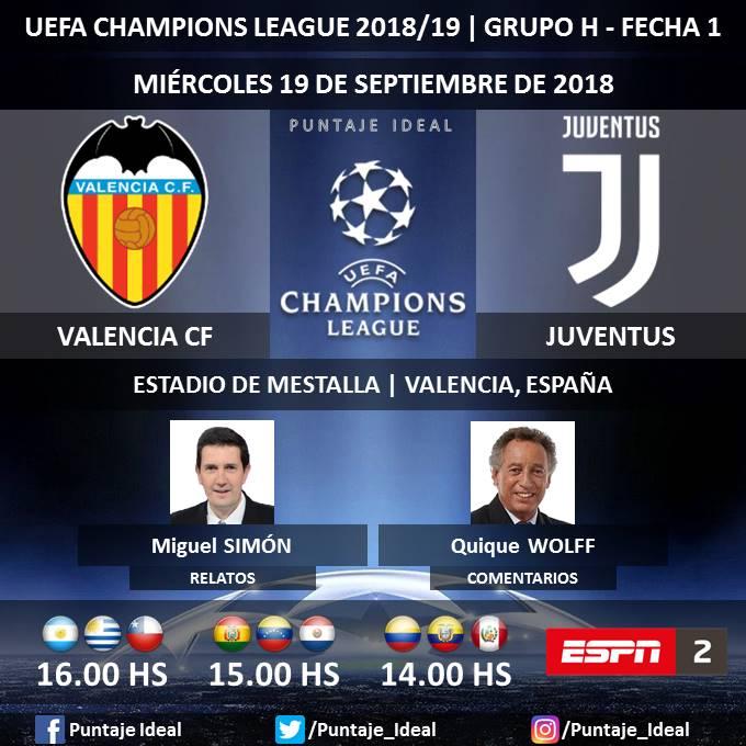 Juventus vs Valencia