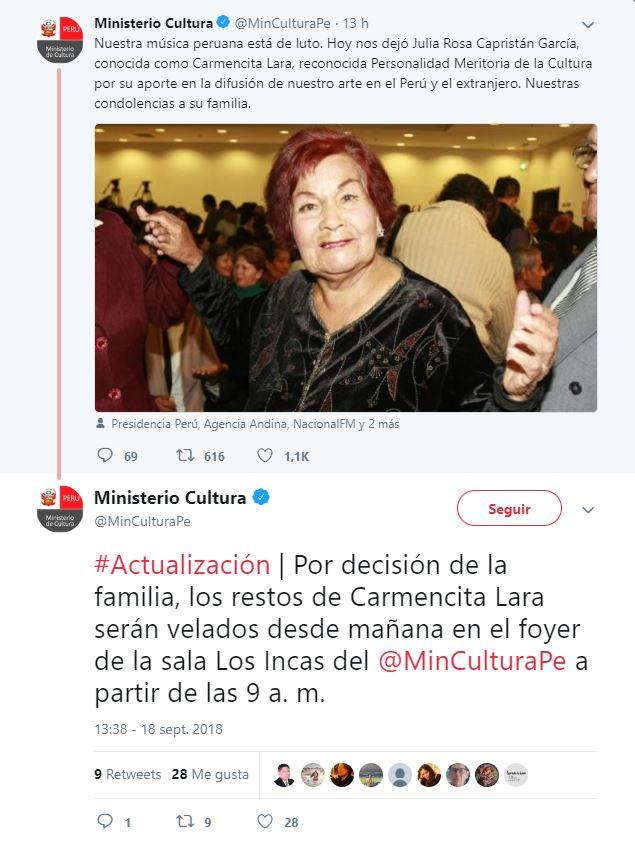 Carmencita Lara - Ministerio de Cultura