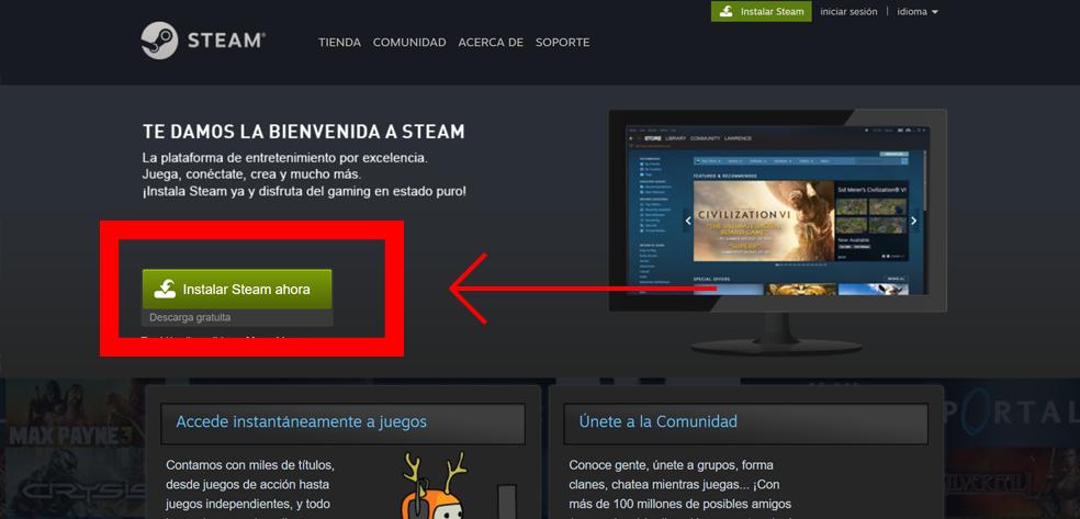 Instalar Steam