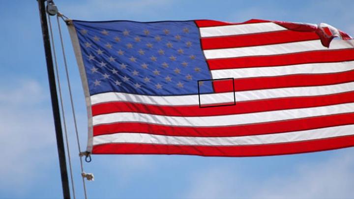 La imposibilidad de que la bandera de Chile esté integrada a la bandera de Estados Unidos.