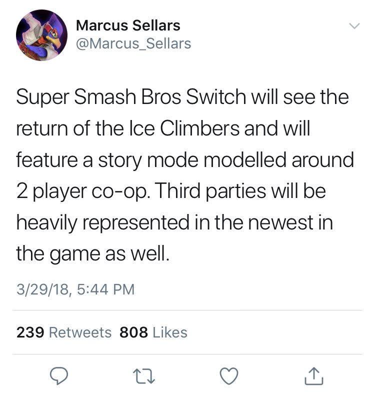 Markus Sellars tweet