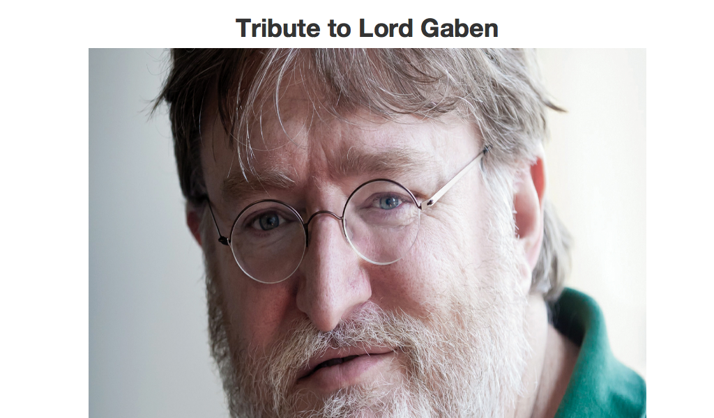 Steam In Gaben we trust Newell