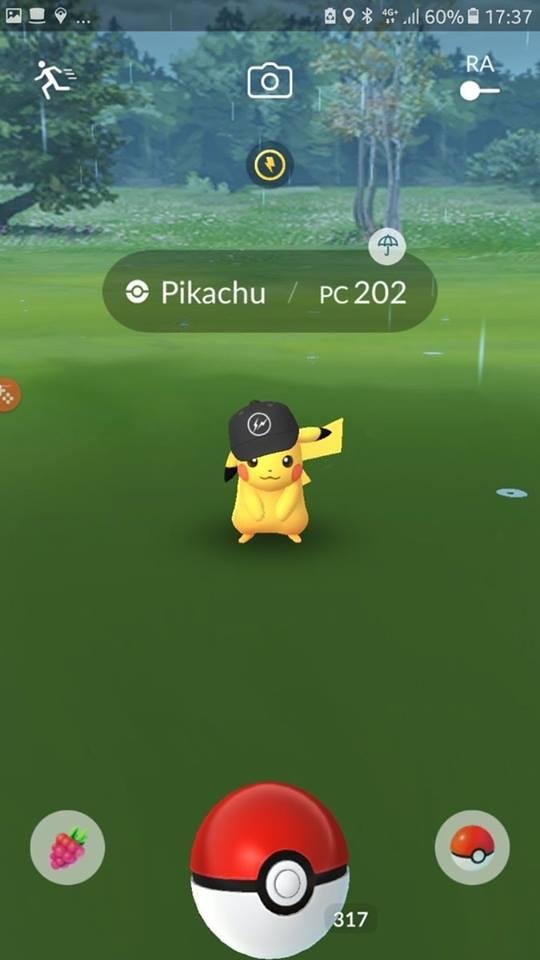 pokemon go pikachu gorro negro