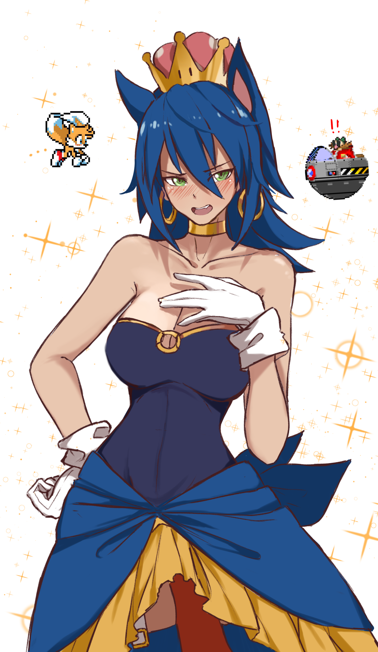 Super crown Sonic the Hedgehog woman super corona Bowsette