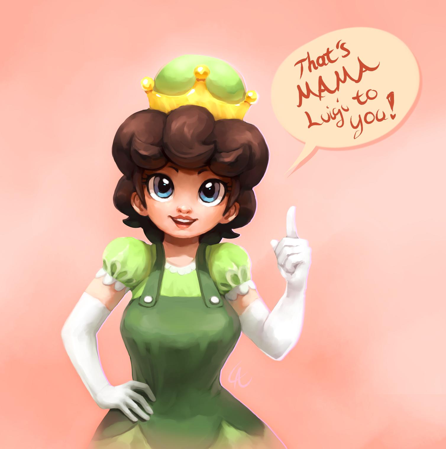 Luigi super corona Bowsette