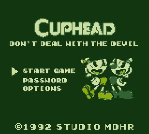 Cuphead Gameboy
