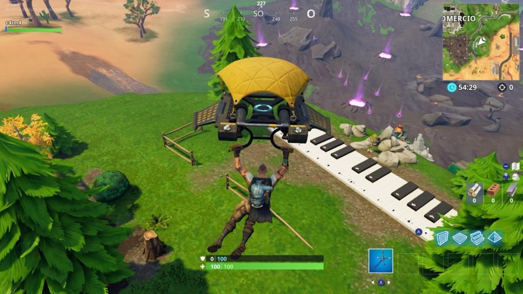 Fortnite piano ciudad comercio