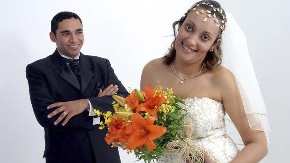Márcia Martins Miranda y esposo