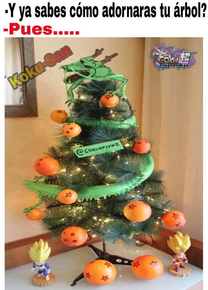 Dragon Ball Super Decoró Su árbol De Navidad Con Las