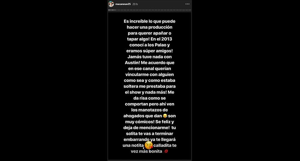 Macarena Vélez arremete contra Luciana Fuster.