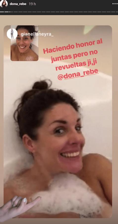 Instagram Rebeca Escribens Y Gianella Neyra Se Graban Desnudas