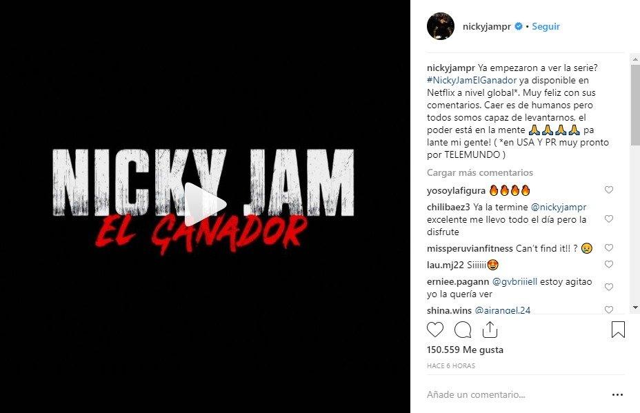 Nicky Jam estrena serie en Netflix.