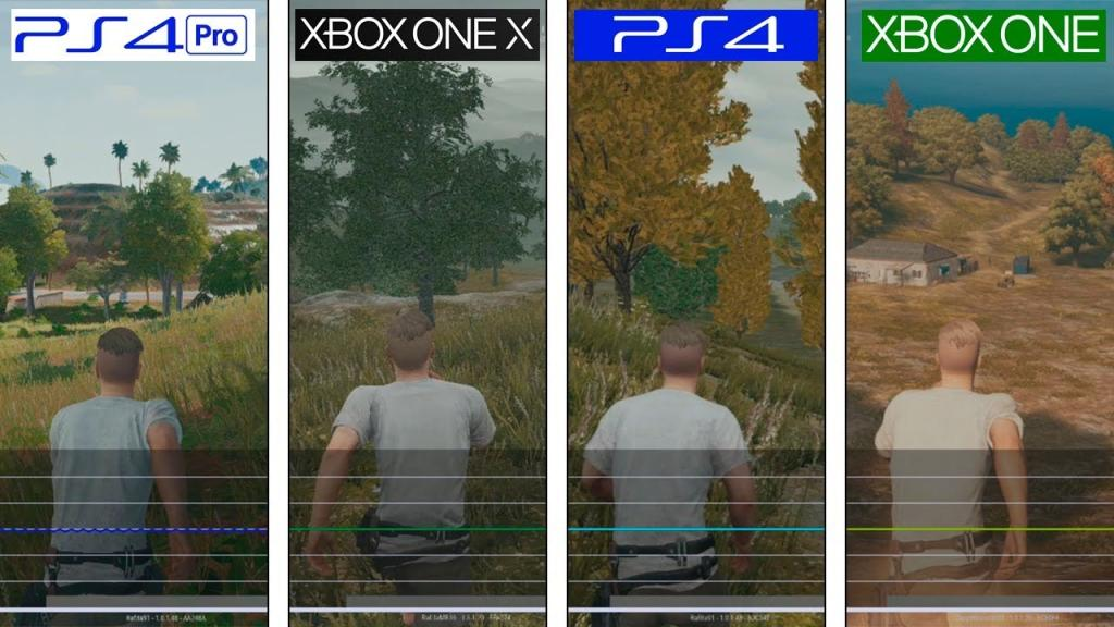 PUBG: PS4, PS4 Pro vs Xbox One, Xbox One X