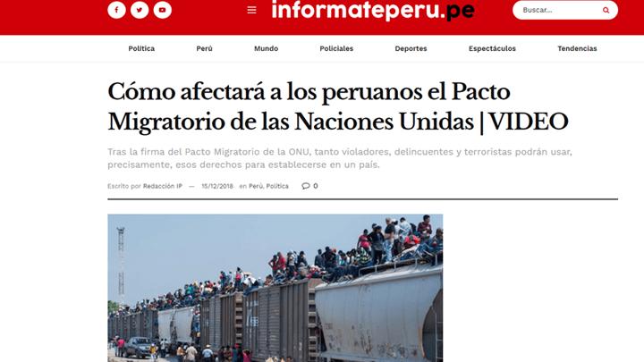Pacto migratorio de la ONU