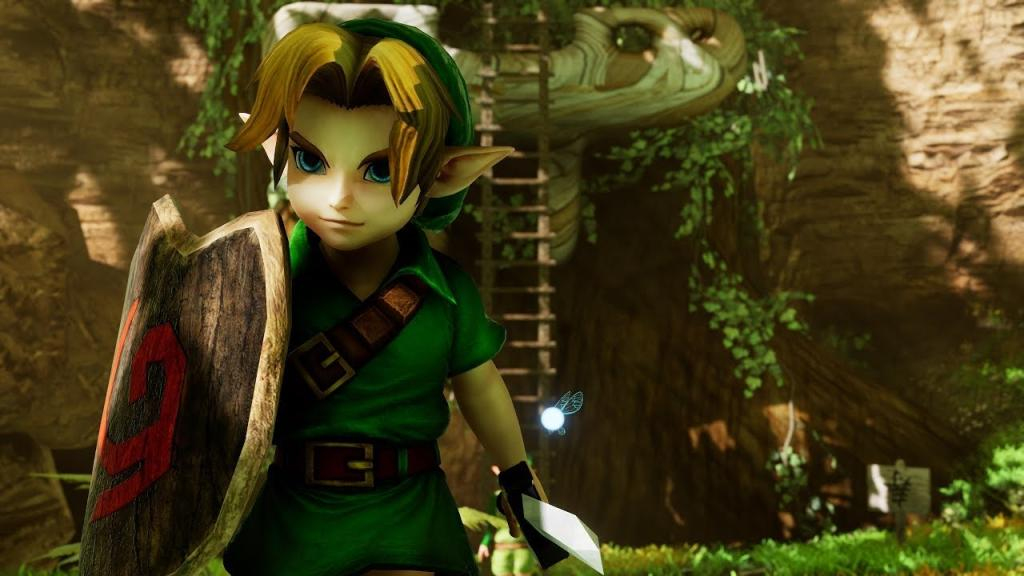 Zelda Ocarina of Time legend in the 4K Unreal Engine CryZENX