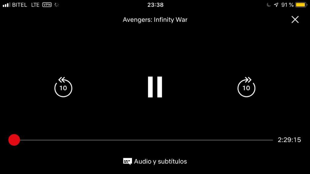 Con este truco podrás ver Avengers Infinity War en Netflix desde
