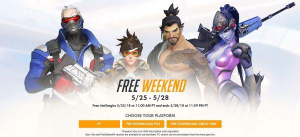 Overwatch y COD BO4 free to play