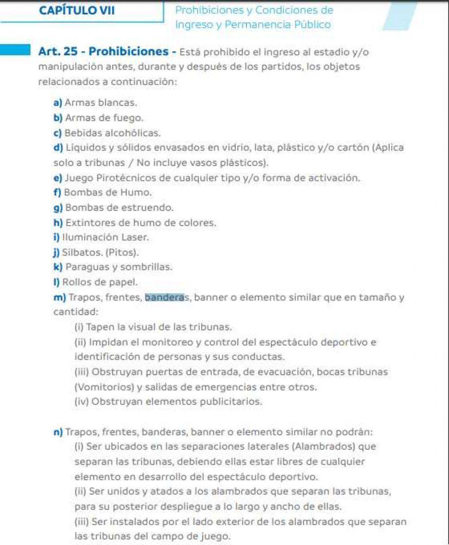 Reglamento Conmebol