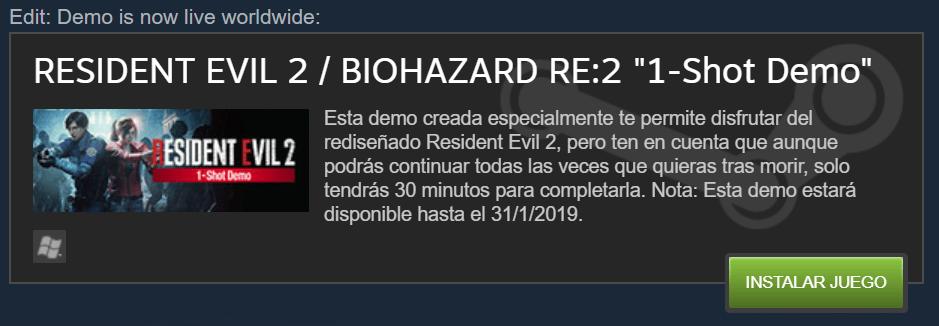 Resident Evil 2 Remake descargar PC gratis