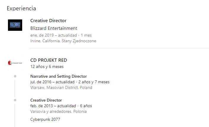 Blizzard contrata director creativo de Cyberpunk 2077