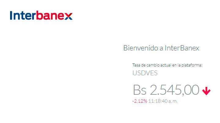 interbanex dolar venezuela hoy