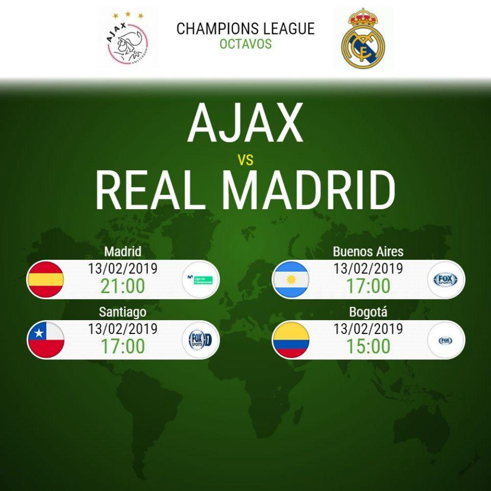 Real Madrid vs Ajax EN VIVO EN DIRECTO