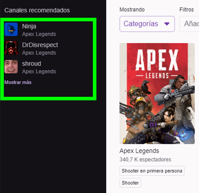 Twitch Ninja Apex Legends