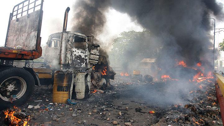 queman camion venezuela
