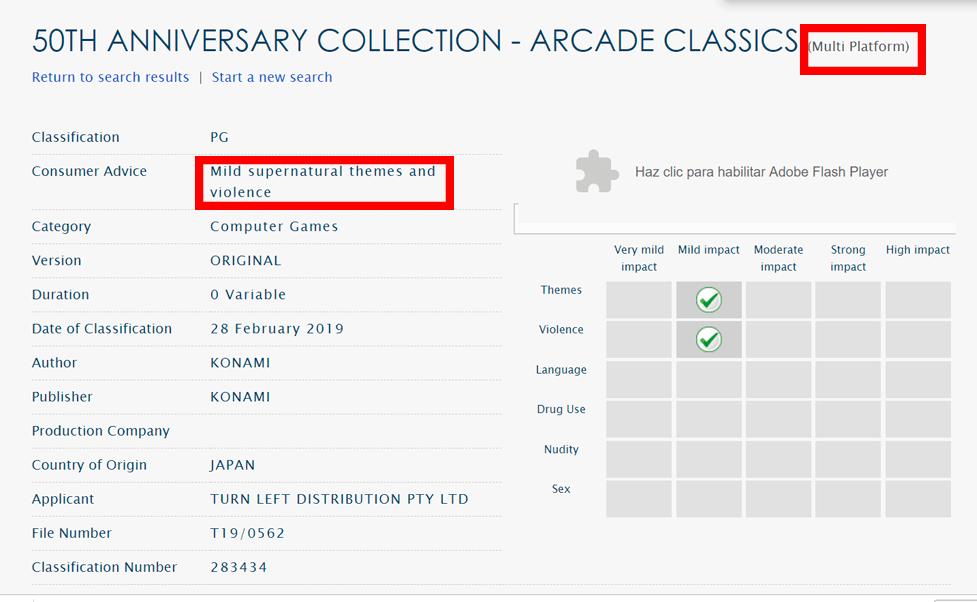 Konami 50th Anniversary Collection Arcade Classics