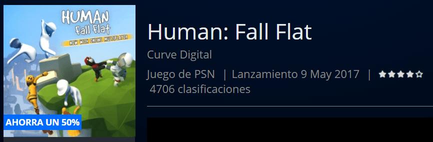 PS4 ofertas Human Fall Flat