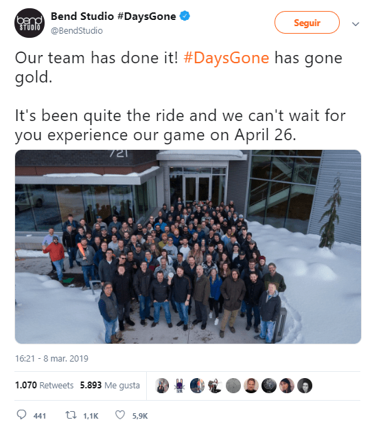 Days Gone Gold PS4