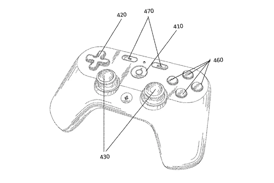 Google Patente mando videojuego