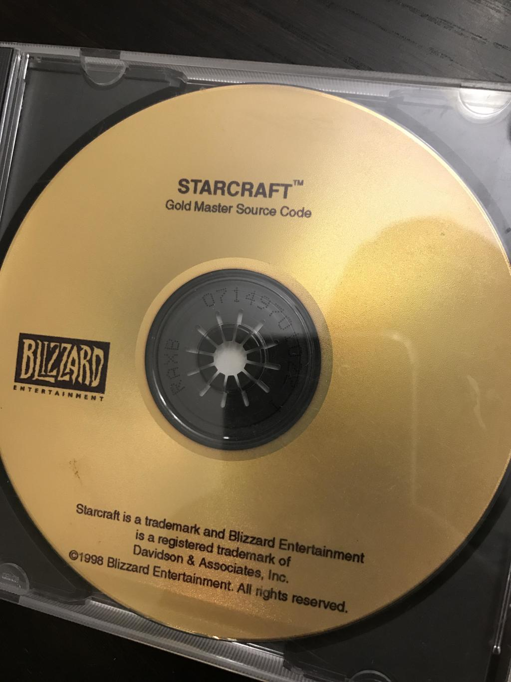 StarCraft Gold disc