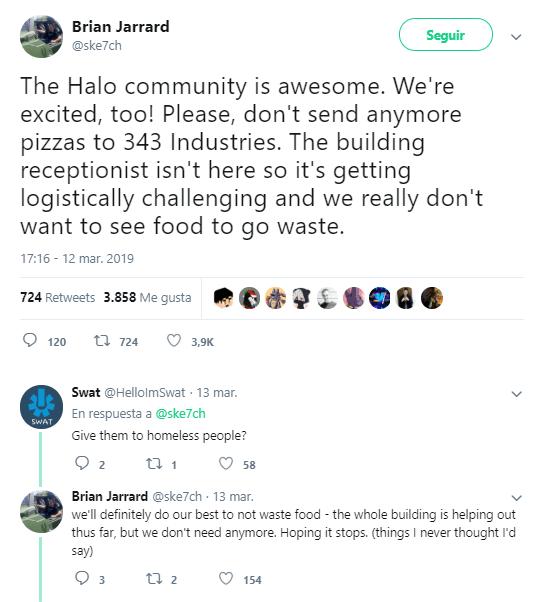 343 Industries Twitter Jarrard pizzas