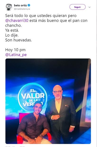 Beto Ortiz sobre Chávarri