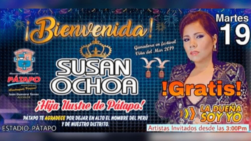 Susan Ochoa en Chiclayo.
