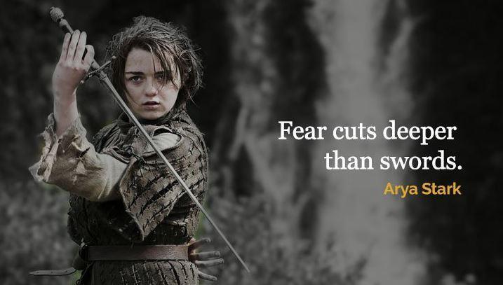 Game Of Thrones Frases De Arya Stark De Juego De Tronos