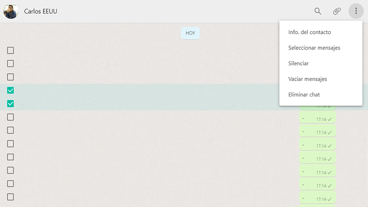 seleccionar mensajes