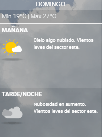 clima domingo argentina