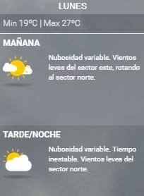 clima lunes argentina