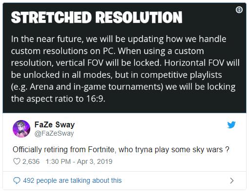 Fortnite resolución bloqueada