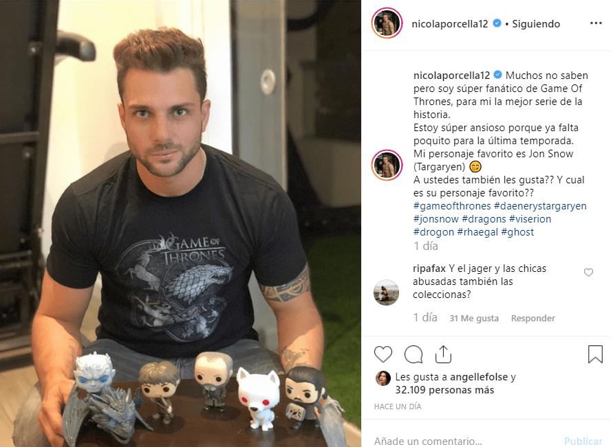Instagram Nicola Porcella
