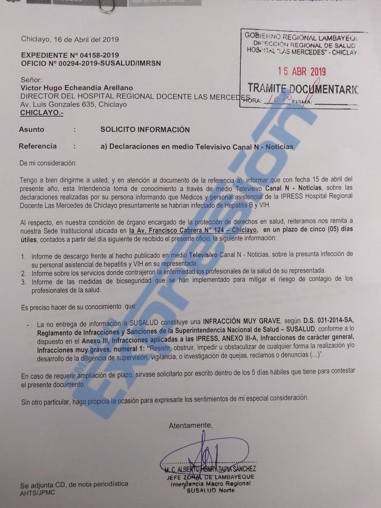 Documento de Susalud.