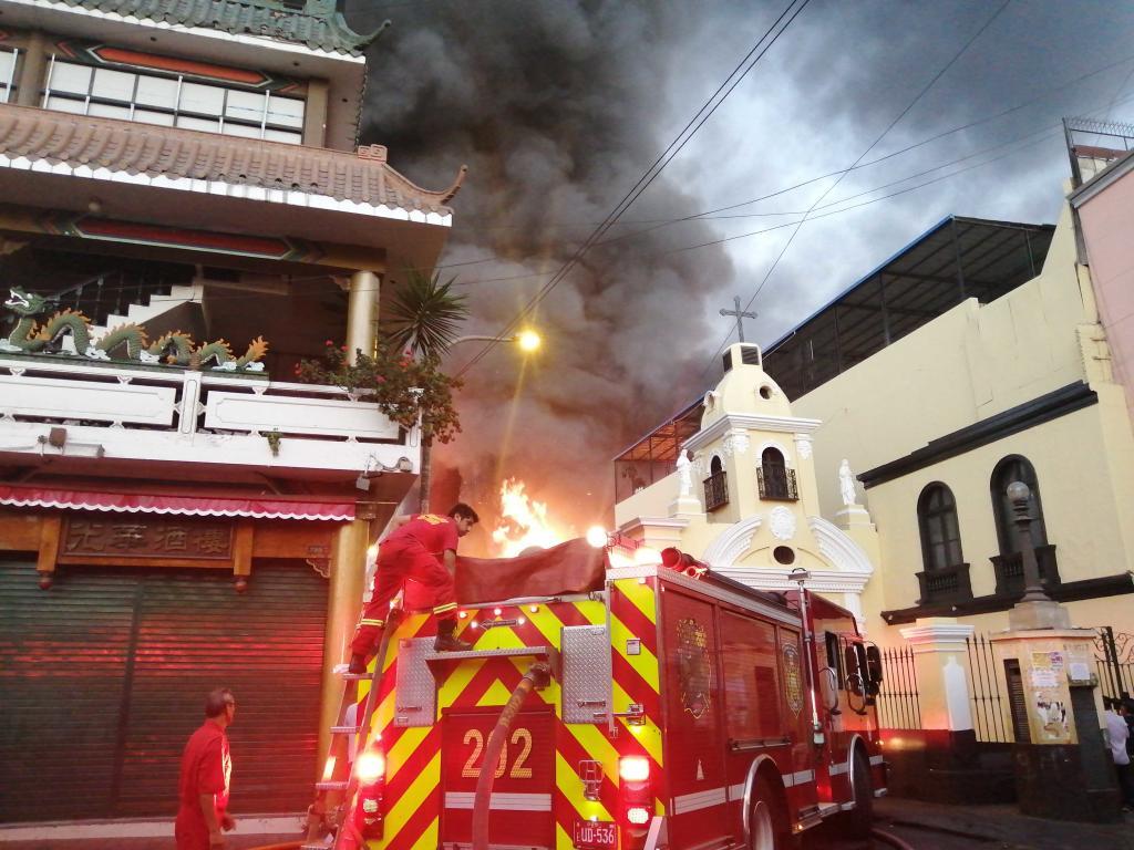 Incendio Centro de Lima