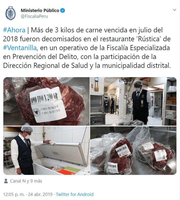 Operativo llevado a cabo por el Ministerio Público en Rustica.