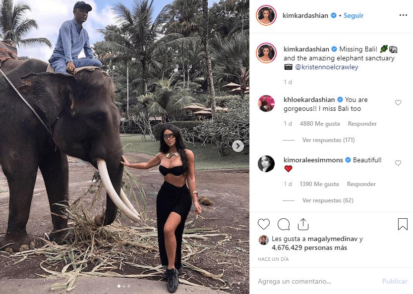 Kim Kardashian en Bali
