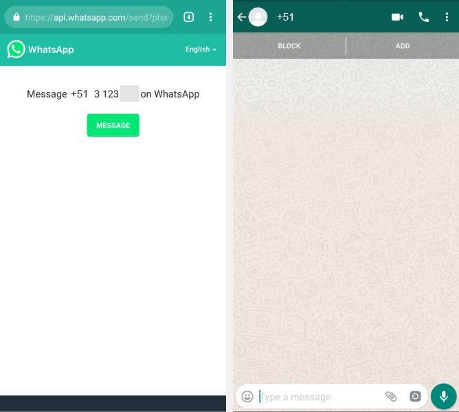 Whatsapp sin agregar contacto