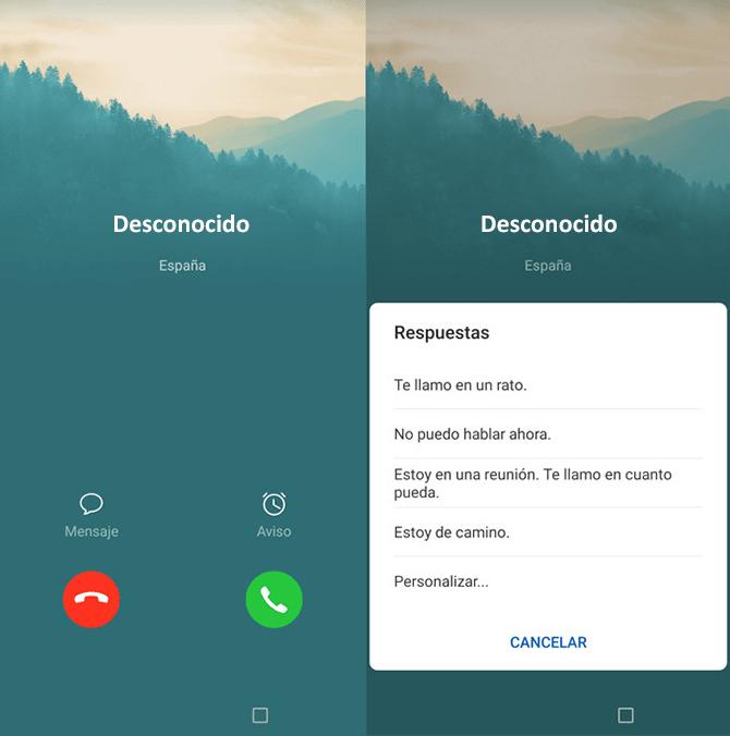 Smartphone llamadas automáticas